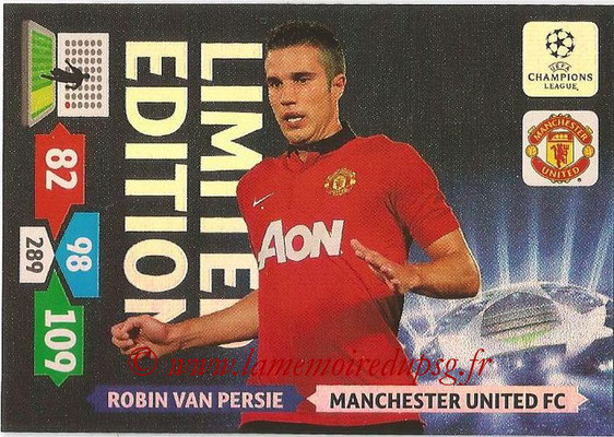 2013-14 - Adrenalyn XL champions League N° LE35 - Robin VAN PERSIE (Manchester United FC) (Limited Edition)