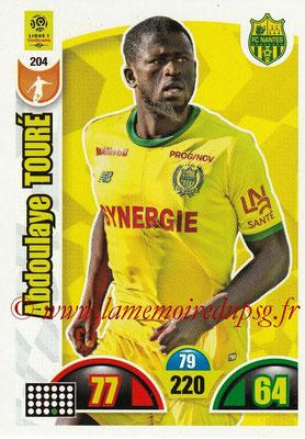 2018-19 - Panini Adrenalyn XL Ligue 1 - N° 204 - Abdoulaye TOURE (Nantes)