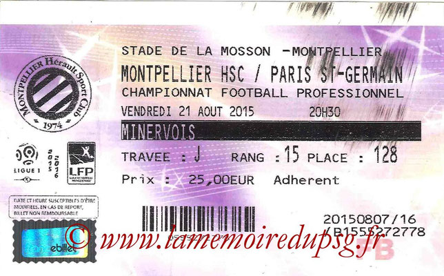 Tickets  Montpellier-PSG  2015-16