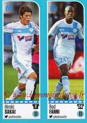 2016-17 - Panini Ligue 1 Stickers - N° 388 + 389 - Hiroki SAKAI + Rod FANNI (Marseille)