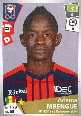 2017-18 - Panini Ligue 1 Stickers - N° 085 - Adama MBENGUE (Caen)
