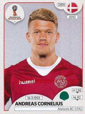 2018 - Panini FIFA World Cup Russia Stickers - N° 271 - Andreas CORNELIUS (Danemark)