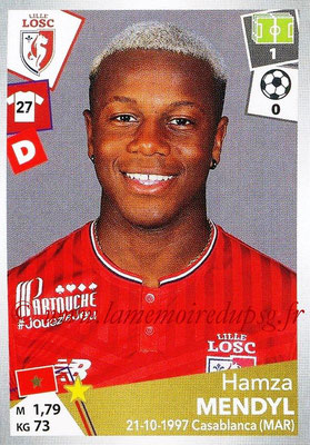 2017-18 - Panini Ligue 1 Stickers - N° 164 - Hamza MENDYL (Lille)