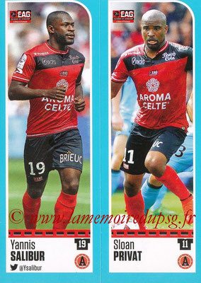 2016-17 - Panini Ligue 1 Stickers - N° 228 + 229 - Yannis SALIBUR + Sloan PRIVAT (Guingamp)