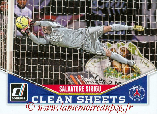 2015 - Panini Donruss Soccer - N° CS10 - Salvatore SIRIGU (Paris Saint-Germain) (Clean Sheets)