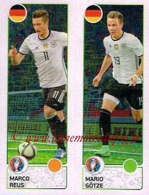 Panini Euro 2016 Stickers - N° 266 - Marco REUS + Mario GOTZE (Allemagne)