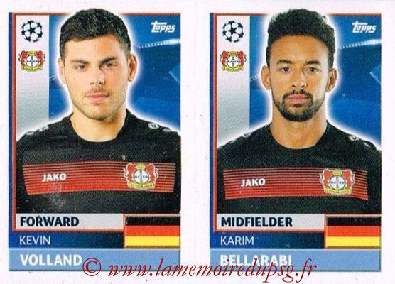 2016-17 - Topps UEFA Champions League Stickers - N° LEV 16-17 - Karim BELLARABI + Kevin VOLLAND (Bayer 04 Leverkusen)