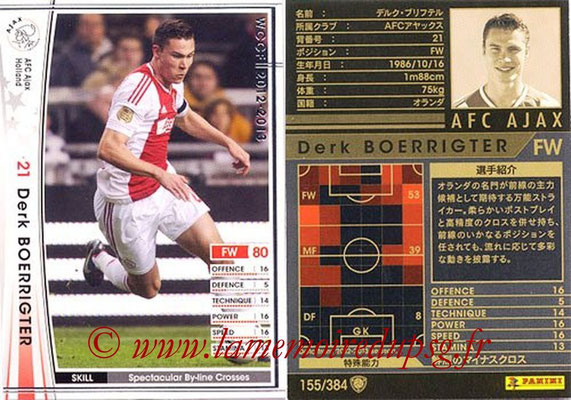 2012-13 - WCCF - N° 155 - Derk BOERRIGTER (AFC Ajax)