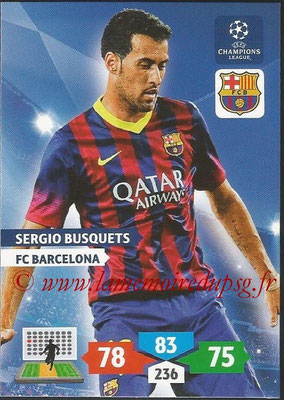 2013-14 - Adrenalyn XL champions League N° 067 - Sergio BUSQUETS (FC Barcelone)