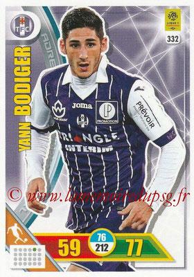 2017-18 - Panini Adrenalyn XL Ligue 1 - N° 332 - Yann BODIGER (Toulouse)