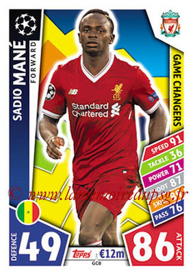 2017-18 - Topps UEFA Champions League Match Attax - N° GC08 - Sadio MANE (Liverpool FC) (Game Changers)