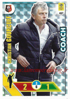 2017-18 - Panini Adrenalyn XL Ligue 1 - N° 487 - Christian GOURCUFF (Rennes) (Coach)