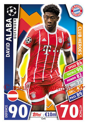 2017-18 - Topps UEFA Champions League Match Attax - N° CH04 - David ALABA (FC Bayern Munich) (Club Heroes)