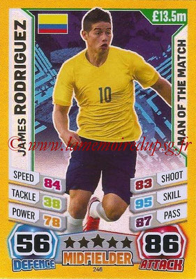 Topps Match Attax England 2014 - N° 246 - James RODRIGUEZ (Colombie) (Man Of The Match)