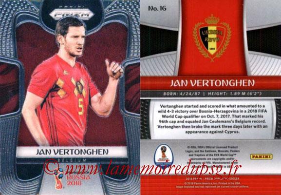 2018 - Panini Prizm FIFA World Cup Russia - N° 016 - Jan VERTONGHEN (Belgique)