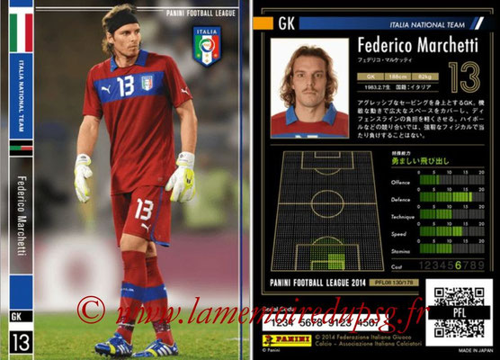 Panini Football League 2014 - PFL08 - N° 130 - Federico MARCHETTI (Italie)
