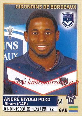 2014-15 - Panini Ligue 1 Stickers - N° 038 - André BIYOGO POKO (Girondins de Bordeaux)