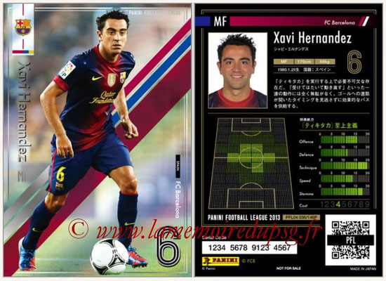 Panini Football League 2013 - PFL04 - N° 036 - Xavi HERNANDEZ (FC Barcelone)