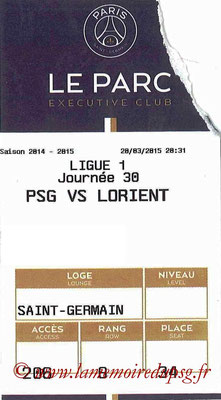 Tickets  PSG-Lorient  2014-15