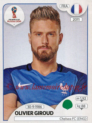 2018 - Panini FIFA World Cup Russia Stickers - N° 206 - Olivier GIROUD (France)