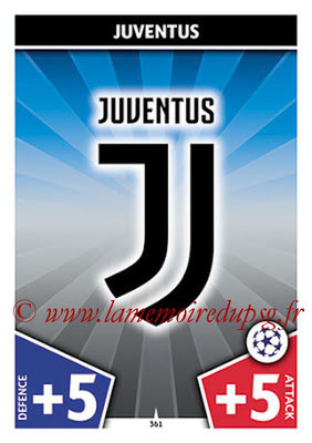 2017-18 - Topps UEFA Champions League Match Attax - N° 361 - Logo Juventus (Club Badge)