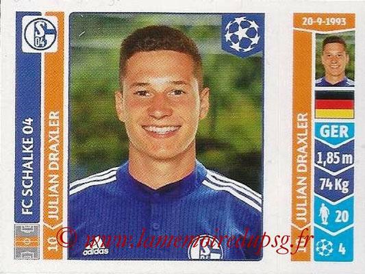 2014-15 - Panini Champions League N° 516 - Julian DRAXLER (FC Schalke 04)