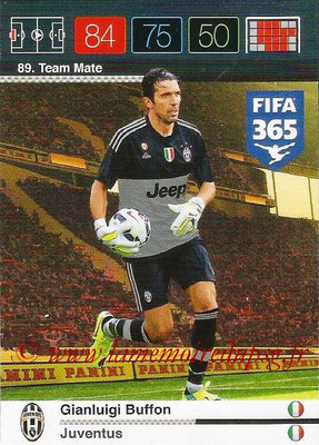 2015-16 - Panini Adrenalyn XL FIFA 365 - N° 089 - Gianluigi BUFFON (Juventus FC) (Team Mate)