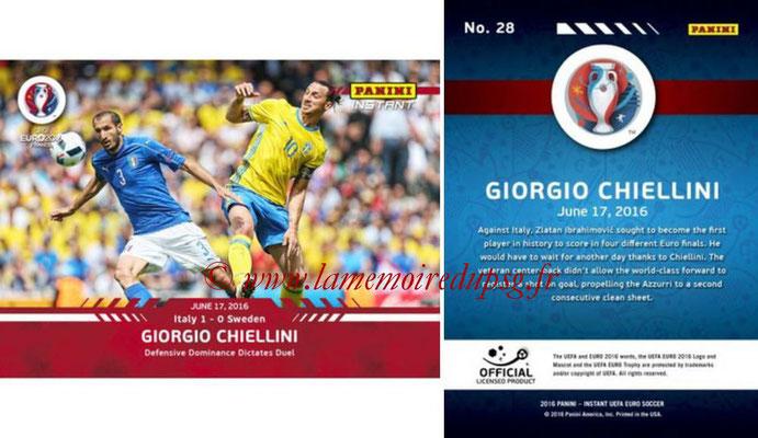Panini Instant Euro 2016 - N° 028 - Giorgio CHIELLINI
