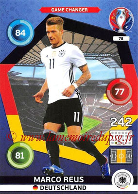 Panini Euro 2016 Cards - N° 078 - Marco REUS (Allemagne) (Game Changer)
