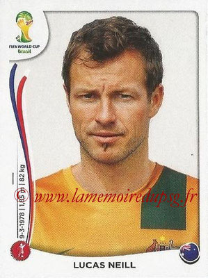 2014 - Panini FIFA World Cup Brazil Stickers - N° 168 - Lucas NEILL (Australie)