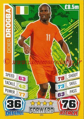 Topps Match Attax England 2014 - N° 161 - Didier DROGBA (Irlande)