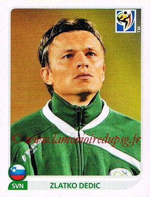 2010 - Panini FIFA World Cup South Africa Stickers - N° 257 - Zlatko DEDIC (Slovenie)