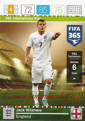 2015-16 - Panini Adrenalyn XL FIFA 365 - N° 340 - Jack WILSHERE (Angleterre) (International Star)