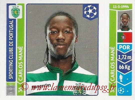 2014-15 - Panini Champions League N° 540 - Carlos MANE (Sporting Club de Portugal)