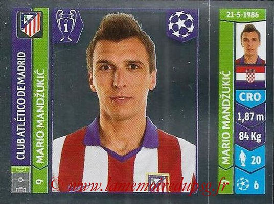 2014-15 - Panini Champions League N° 047 - Mario MANDZUKIC (Atletico Madrid)