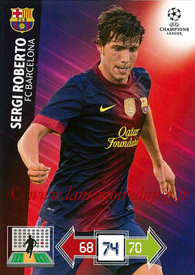 2012-13 - Adrenalyn XL champions League N° 037 - Sergi ROBERTO (FC Barcelone)