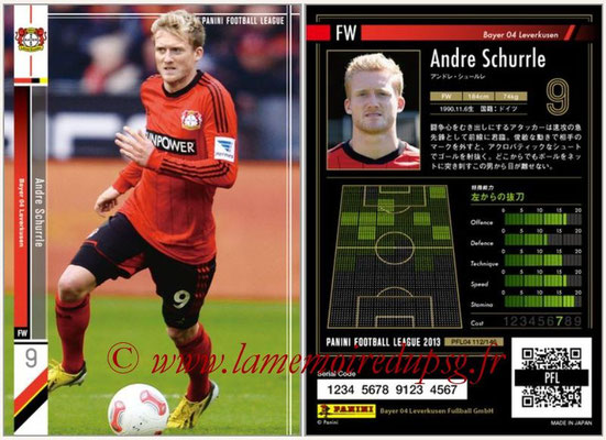 Panini Football League 2013 - PFL04 - N° 112 - Andre SCHURRLE (Bayer Leverkusen)