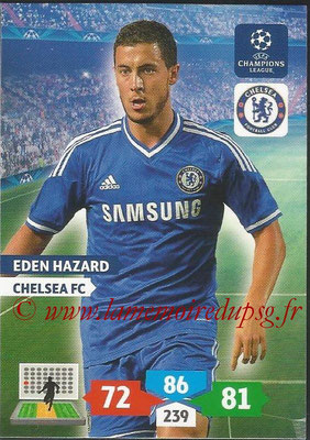 2013-14 - Adrenalyn XL champions League N° 124 - Eden HAZARD (Chelsea FC)