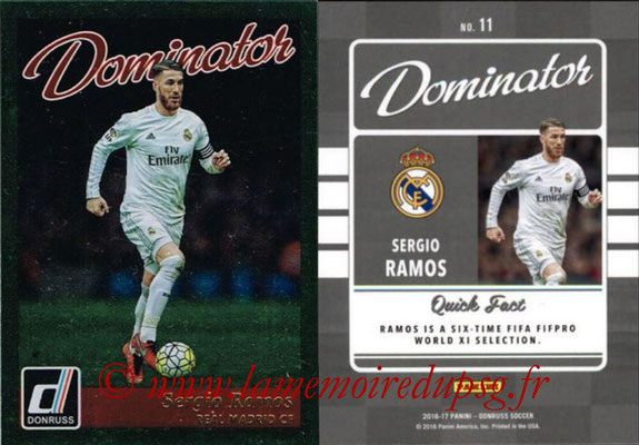 2016 - Panini Donruss Cards - N° D11 - Sergio RAMOS (Real Madrid CF) (Dominator)