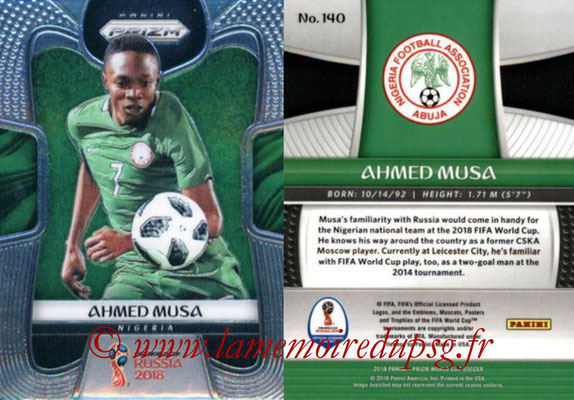2018 - Panini Prizm FIFA World Cup Russia - N° 140 - Ahmed MUSA (Nigeria)
