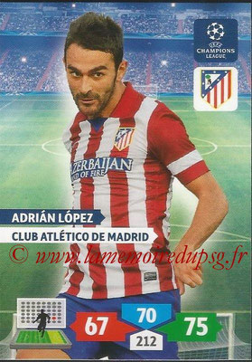 2013-14 - Adrenalyn XL champions League N° 062 - Adrian LOPEZ (Club Atlético de Madrid)