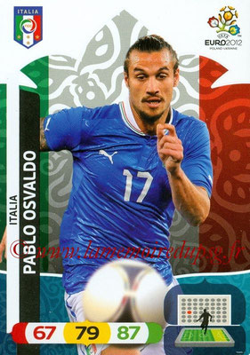 Panini Euro 2012 Cards Adrenalyn XL - N° 130 - Pablo OSVALDO (Italie)