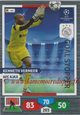 2013-14 - Adrenalyn XL champions League N° 316 - Kenneth VERMEER (AFC Ajax) (Goal Stopper)