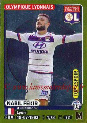 2015-16 - Panini Ligue 1 Stickers - N° 211 - Nabil FEKIR (Olympique Lyonnais) (Top espoir)