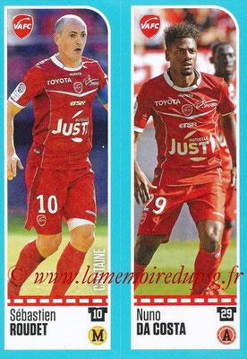 2016-17 - Panini Ligue 1 Stickers - N° 921 + 922 - Sébastien ROUDET + Nuno DA COSTA (Valenciennes)