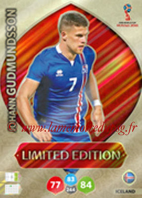 2018 - Panini FIFA World Cup Russia Adrenalyn XL - N° LE-JG - Johann GUDMUNDSSON (Islande) (Limited Edition)