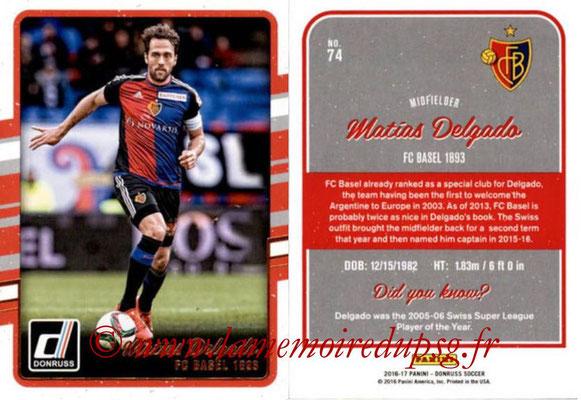 2016 - Panini Donruss Cards - N° 074 - Matias DELGADO (FC Bâle)