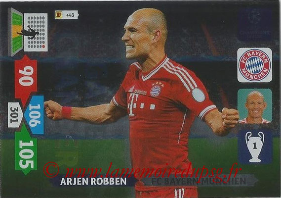 2013-14 - Adrenalyn XL champions League N° 336 - Arjen ROBBEN (FC Bayern de Munich) (Game Changer)