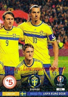 Panini Road to Euro 2016 Cards - N° 225 - Equipe Suède 3