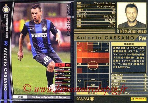 2012-13 - WCCF - N° 206 - Antonio CASSANO (Inter Milan)